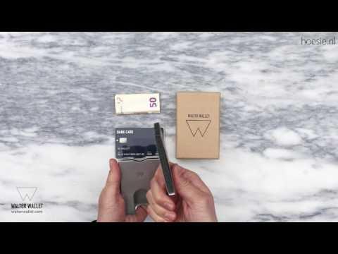 08eccfb1cec Walter Wallet Aluminium Cardholder - hoesie.nl - just in case - - YouTube