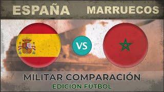 ESPAÑA vs MARRUECOS - Potencia Militar - 2018 [EDICIÓN FÚTBOL]