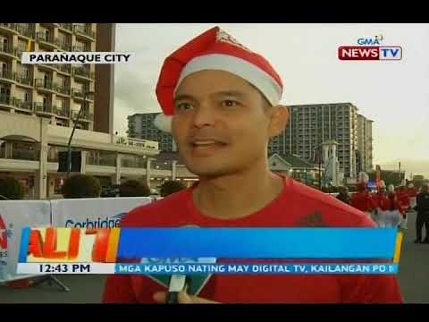 BT: Dingdong Dantes, isa sa mga nag-ala Santa Claus sa fun run na... - 동영상