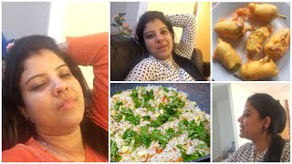 EE VLOG ELA START CHESANO THELUSA | VEGETABLE EGG FRIED RICE | MIRCHI BAJJI | MADHUSHIKA VLOGS