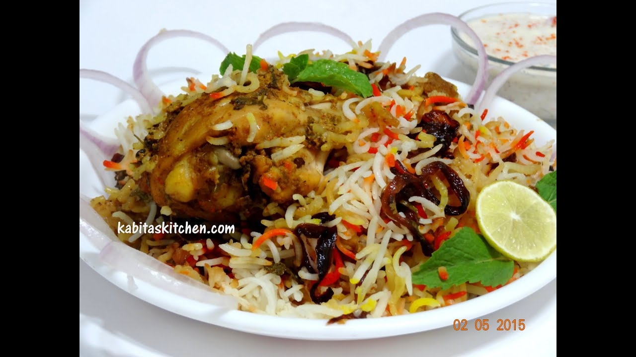 Chicken Dum Biryani-Hyderabadi Chicken Dum Biryani Step by Step
