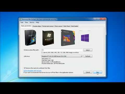 Install Windows 7, 8, 10, From USB Using Wintoflash