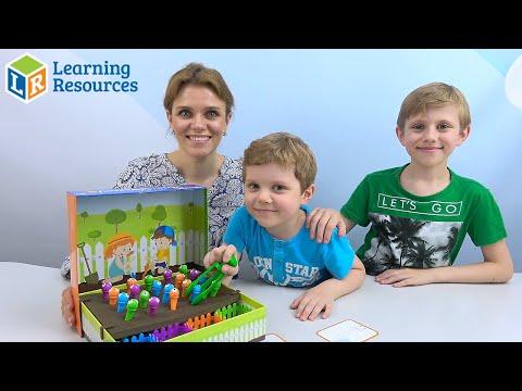 Игра ПОЙМАЙ ЧЕРВЯЧКА от Learning Resources. Весёлое видео для детей!