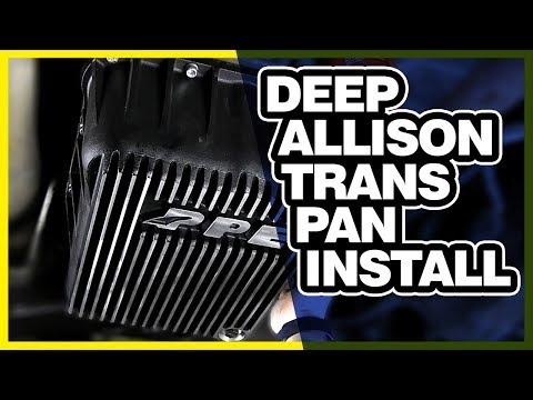 PPE Heavy Duty Deep Allison Trans Pan Install: Chevy Duramax