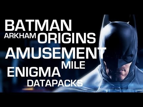 Batman: Arkham Origins Enigma Data Packs - Amusement Mile - YouTube