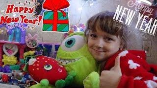 🎁Подарки Насте от Деда Мороза🎁 распаковка игрушек Christmas Morning 2017