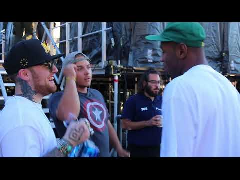 R.I.P Mac Miller & Tyler The Creator - Backstage At Mad Decent Block Party 2017