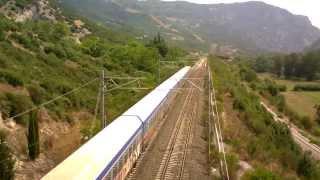 Train-spotting at Tempi Greece (23/07/13)