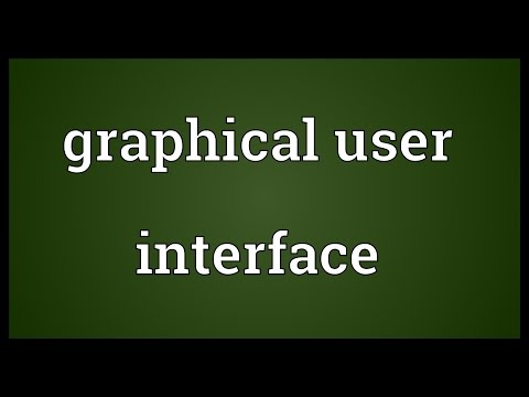 Graphical user interface Meaning
