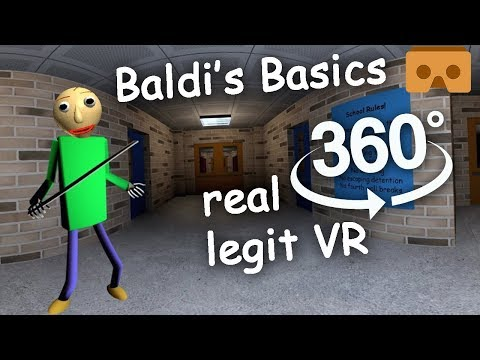 Baldi's Basics 360 VR Part #1: Full Experience