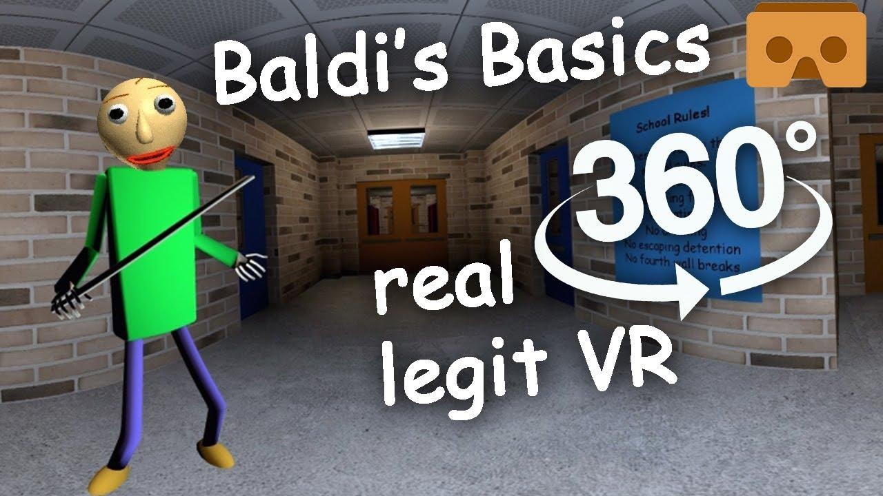 Baldi's Basics 360 VR Part #1: Full Experience