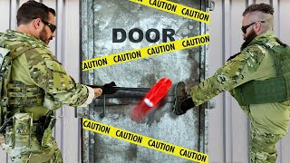 Unbreakable Door vs an Actual SWAT Team! - Challenge