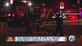 One person killed in fire at senior apartment complex in Allen Park