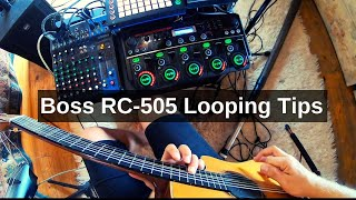 Boss RC-505 Live Looping Tips and Tricks - My Rig run down