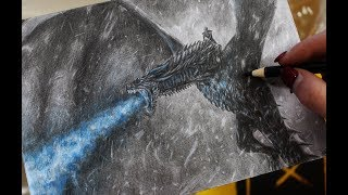 Pencil Drawing: Night King on the dragon - Game of Thrones - Speed Draw | JosYMovieS