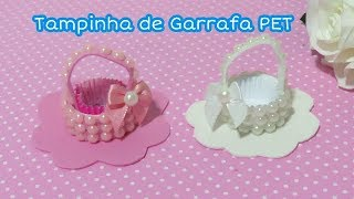 CESTA FÁCIL DE TAMPINHA DE GARRAFA PET