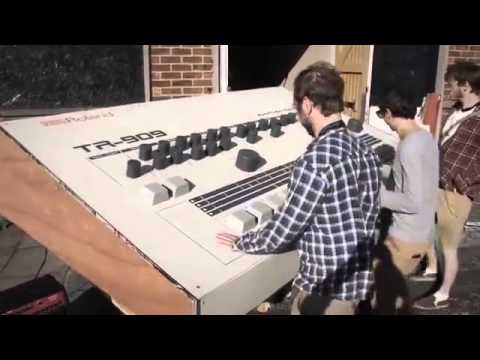 These guys built a 3-meters long Roland 909 and it`s epic!