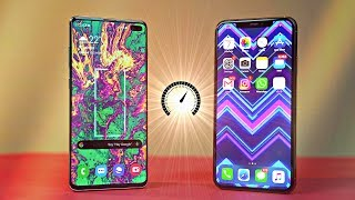 Samsung Galaxy S10 Plus Android 10 vs iPhone 11 Pro MAX - Speed Test!
