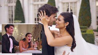 Ashley Iaconetti and Jared Haibon React to Their Same Day Edit Wedding Video
