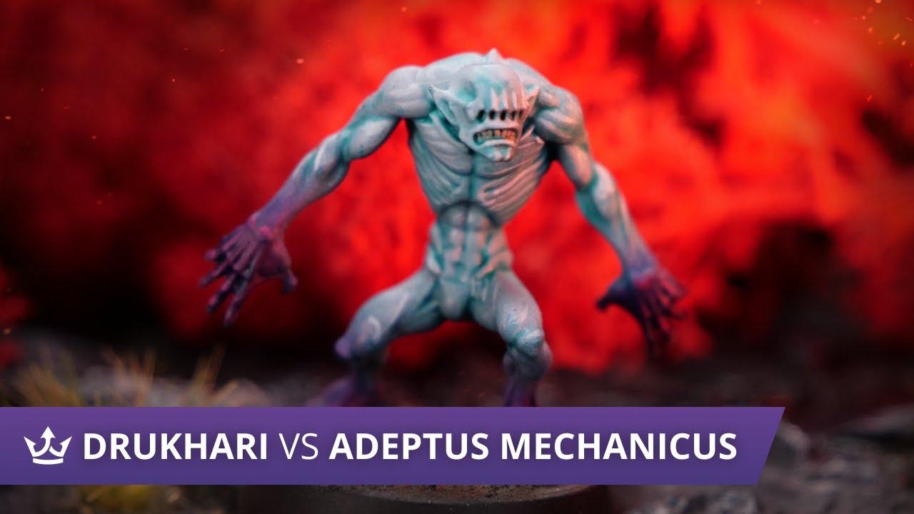 Download Drukhari vs Adeptus Mechanicus - Warhammer 40k 9th Edition Battle Report