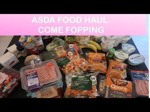 Slimming World Asda healthy food shop! Fopping haul!
