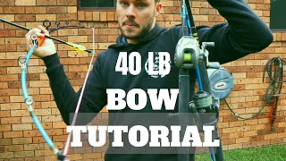 Turn Old FISHING RODS into a 40lb BOW for $5 Very Powerful Extremely Acurate