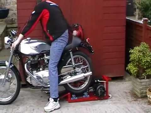Motorcycle Paddock Roller Starter Youtube