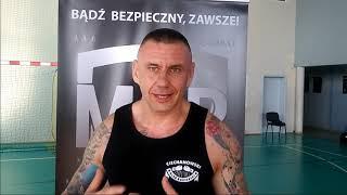 MSP w Mławie. Michał Garstka. Główny trener Ciechanowskiego Klubu Bokserskiego.