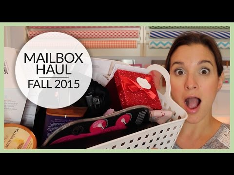 Mailbox Haul | Fall 2015