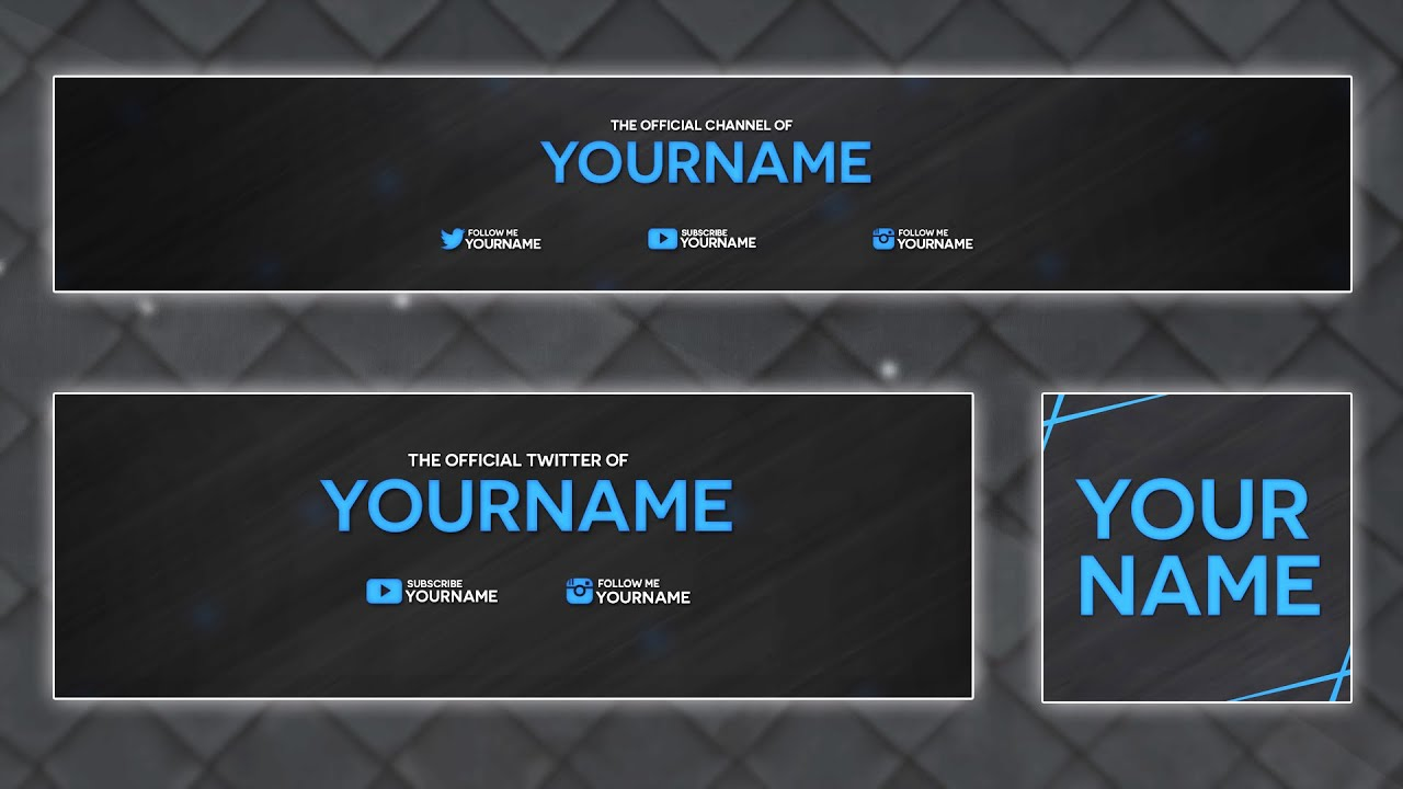 clean 2d banner template 2015 custom colors psd youtube