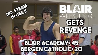 Blair Academy 45 Bergen Catholic 20 | HS Wrestling | Blair Gets Revenge In Blowout Win