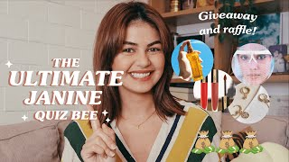 The Ultimate Janine Quiz Bee (Giveaway + Raffle!!) | Janine Gutierrez