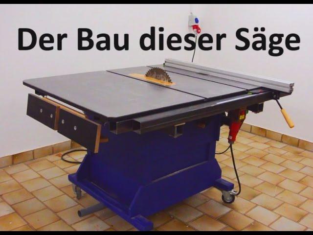 Große Tischkreissäge selber bauen | Tischfräse bauen | Eigenbau Tischkreissäge| DIY #1