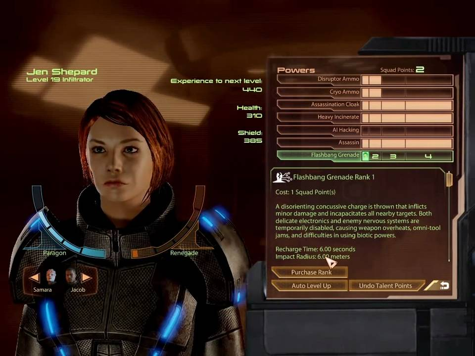 Infiltrator Mass Effect  Build