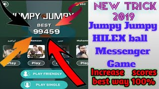 """How to play """"Jumpy Jumpy HILEX Ball"""" Facebook Messenger game 2020 Best Trick to increase scores 2020 screenshot 5"""
