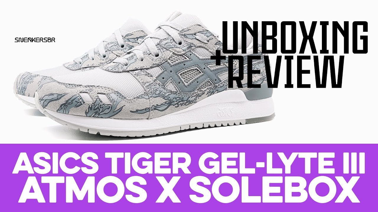 7b21d5f13d9fc UNBOXING+REVIEW - ASICS Tiger GEL-Lyte III atmos x Solebox - YouTube