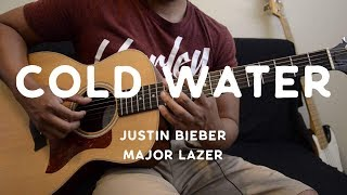 Cold Water (feat. Justin Bieber & MØ) - Major Lazer - Guitar Tutorial