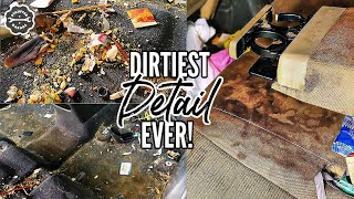 ROACH INFESTED Car Detailing A Disgusting Kia | INSANE Car Cleaning Restoration | Stauffer Garage