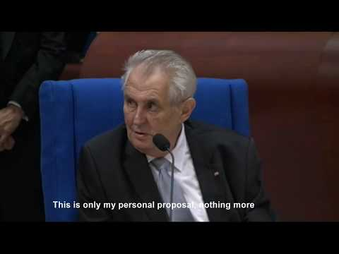 Great comment by Miloš Zeman on Crimea at European Council
