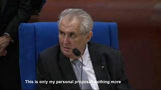 Great comment by Miloš Zeman on Crimea at European Council