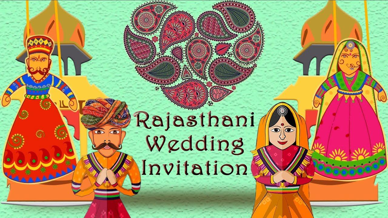 Traditional Rajasthani Marwadi Theme Wedding Invitation