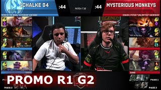 Mysterious Monkeys vs FC Schalke 04 | Game 2 Promotion/Relegation S8 EU LCS Spring 2017 | MM vs S04 thumbnail