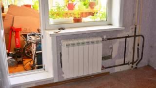 Нижняя подача - радиатор на транзитный стояк.(Нижняя подача по стояку отопления - переподключение на более горячий стояк отопления для увеличения темпер..., 2016-10-19T00:37:56.000Z)