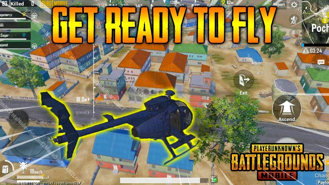 PUBG Mobile HELICOPTER GamePlay | Helicopter in PUBGM - New ROCKET + GRENADE Launcher | PAYLOAD MODE