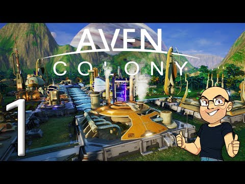 FUTURISTIC CITY BUILDER & MANAGER GAME! AWESOME!! | Aven Colony Beta Gameplay E1