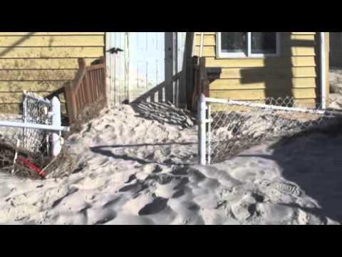 Hurricane Sandy hits Long Beach, NY