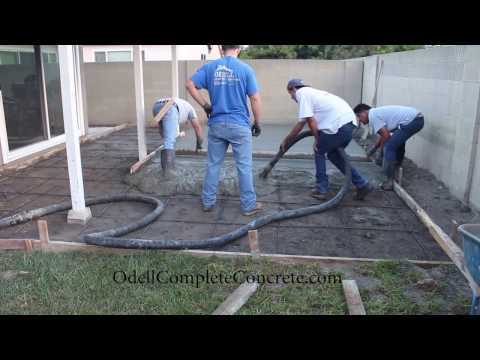 How To Setup A Backyard For A Patio Concrete Pour Start To ...