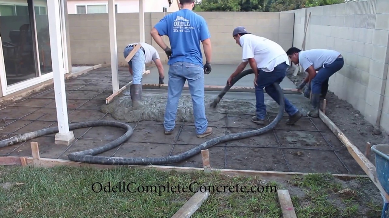 How To Setup A Backyard For A Patio Concrete Pour Start To Finish