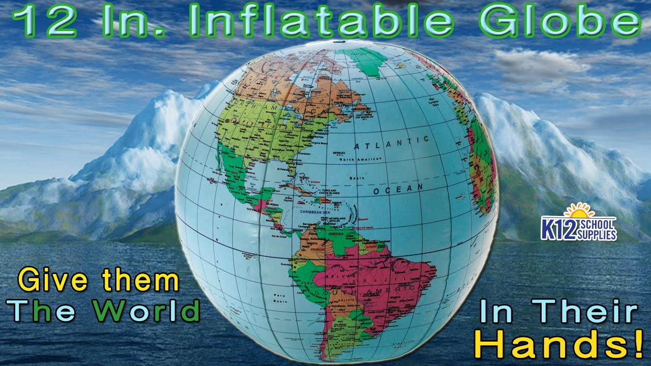 Inflatable Globe World Map. Inflatable Globe  Blow Up Geography Games YouTube