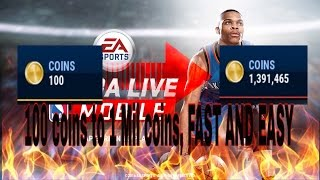 NBA LIVE MOBILE: How to make coins SUPER FAST! BEST METHOD